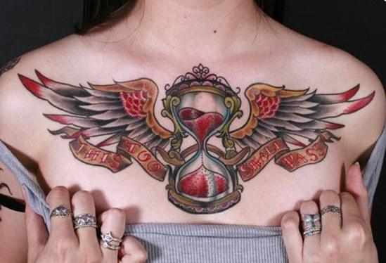 Tatuajes de relojes de arena-hourglass tattoo