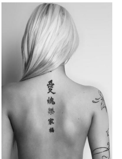 Letras chinas y significados para tatuajes