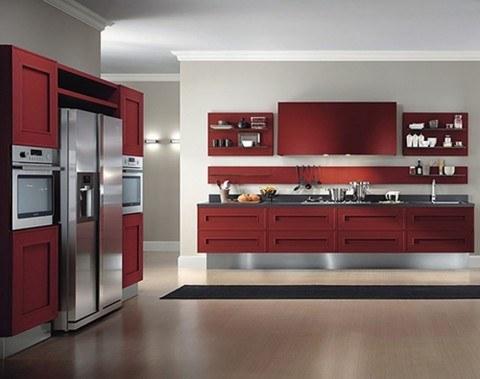 red-modern-kitchen