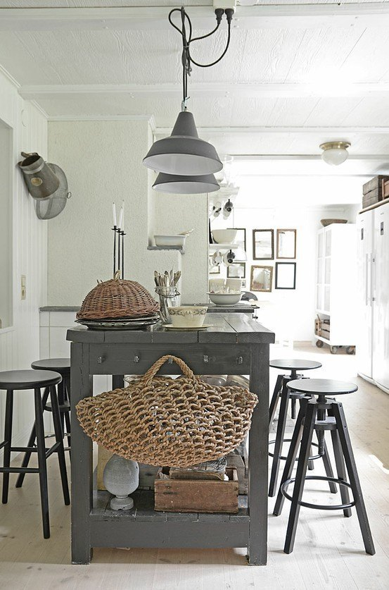 rustic and gray kitchen