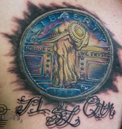 tatuaje monedas