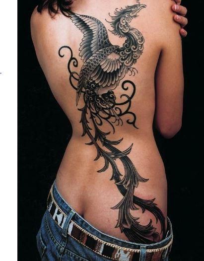 Tatuaje de Ave Fénix,