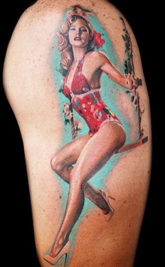 tatuajes de chicas pin up