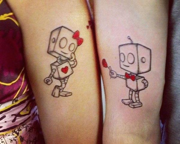 tatuajes-para-parejas-robots