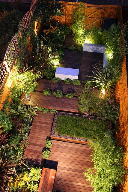 tipo iluminacion en jardin