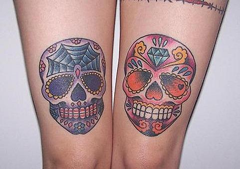 calaveras azucar tatuaje