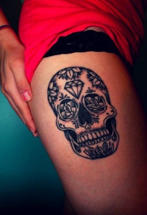 Tatuaje calaveras de azúcar