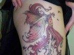 Tatuaje de hada otoñal