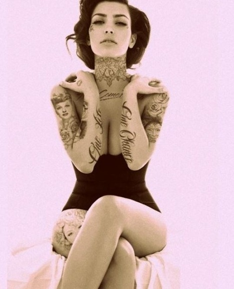 Kim kardashiam tatuajes