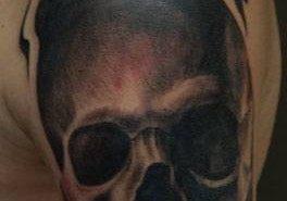 Tatuajes de calaveras con fuego