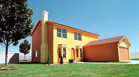fachada como la casa de los simpson
