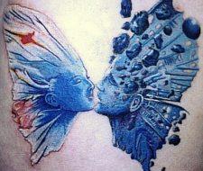 Mariposa equilibrio