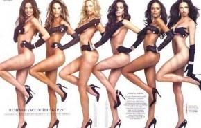 Modelos de Victoria´s Secret hacen ensayo para la revista 'Vanity Fair'