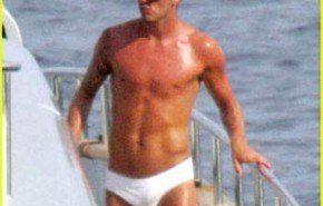 David Beckham modelo de Armani