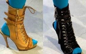 Moda híbrida, con botas abiertas en los dedos