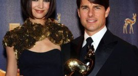 Tom Cruise y Katie Colmes en la 59 ª anual ceremonia de los Premios Bambi