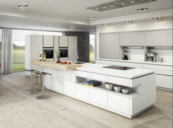 De 30 Fotos De Decoracion De Cocinas Blancas Modernas - Cocinas-blancas-con-isla