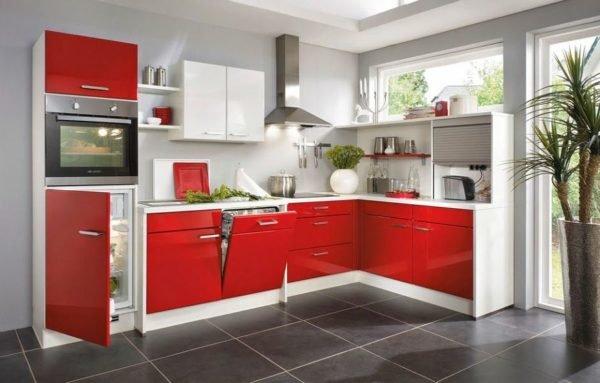 De 30 fotos de decoraci n de cocinas blancas modernas for Cocinas con colores vivos