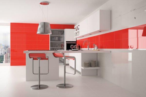 De 30 fotos de decoraci n de cocinas blancas modernas - Azulejos cocina moderna ...