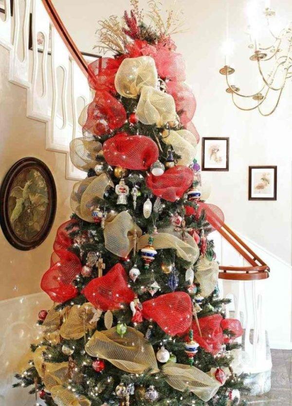 De 300 fotos de arboles de navidad 2018 decorados y - Lazos arbol navidad ...