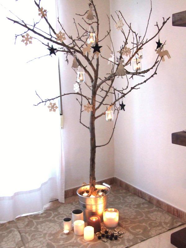 De 300 fotos de arboles de navidad 2016 decorados y for Decoracion con ramas secas