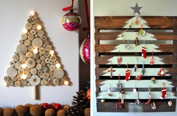 De 300 fotos de arboles de navidad 2018 decorados y originales - Arboles de navidad de madera ...