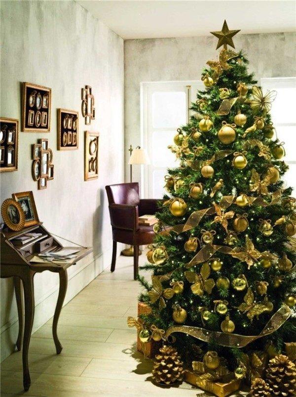 arboles-de-navidad-dorados-decoracion