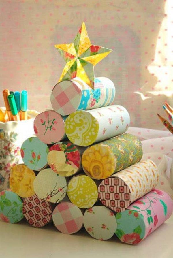 arboles-de-navidad-para-ninos-con-rollos-de-papel-higienico