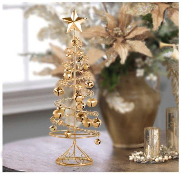 arboles-de-navidad-pequenos-dorado