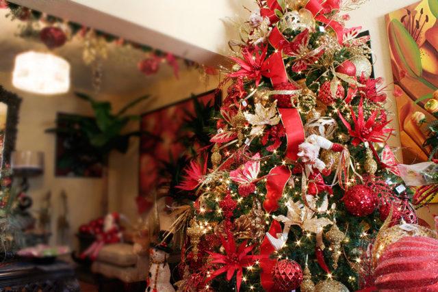 De 300 fotos de arboles de navidad 2016 decorados y for Arboles navidenos decorados