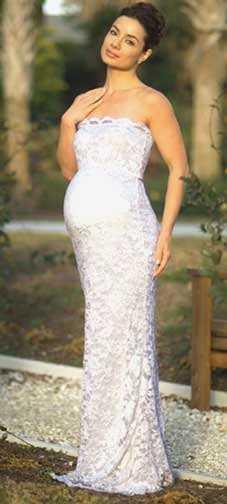 Vestidos de novia para embarazadas de encaje