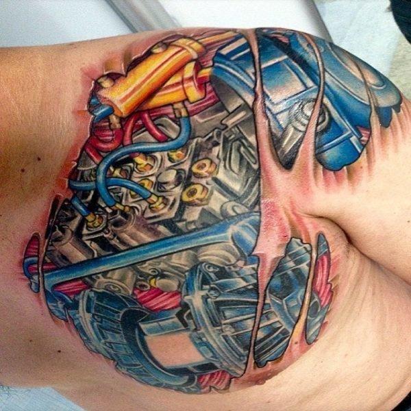 Tatuajes Biomecánicos O De Engranajes En 3d Que Os Van A Flipar