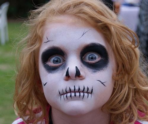 maquillaje,halloween,esqueleto,para,ninos,nina
