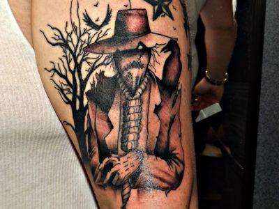 Tatuajes de Halloween: Espantapajaros