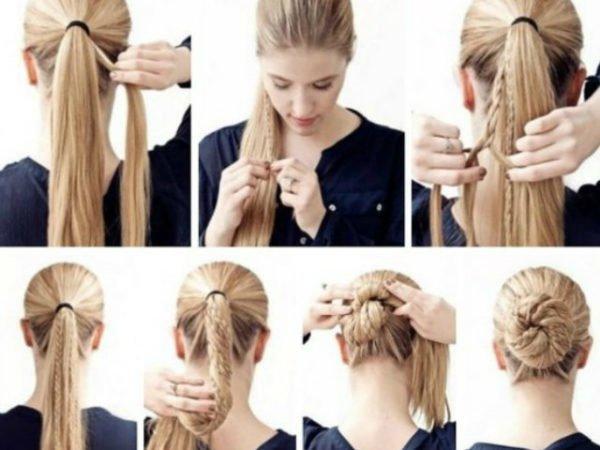 20-peinados-fáciles-y-rápidos-moño-con-trenzas