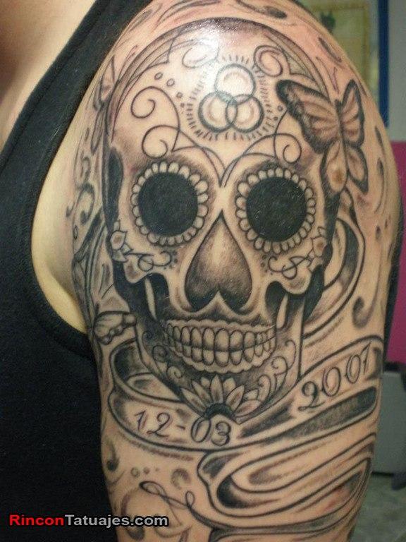 tatuajes-de-calaveras-mexicanas-blanco-negro-3
