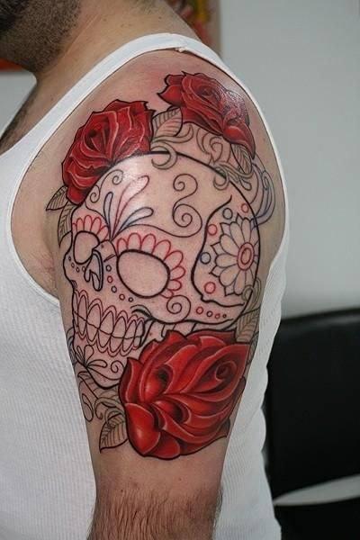 tatuajes-de-calaveras-mexicanas-color-perfilado