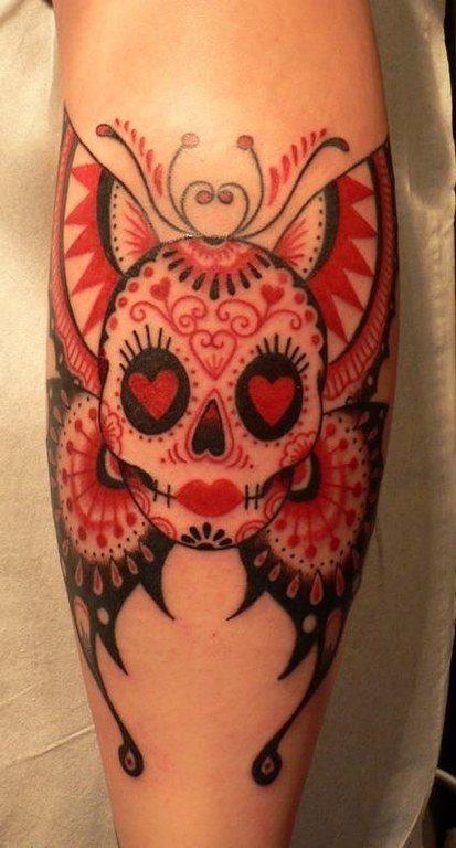 tatuajes-de-calaveras-mexicanas-color-personalizada