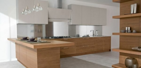 De 100 fotos de cocinas de madera - Cocinas madera clara ...