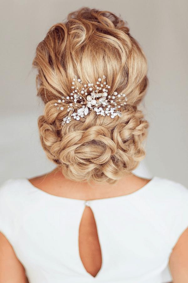 Los mejores 20 peinados de novia para boda 2016 for Recogido mono bajo