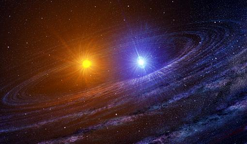 Resultado de imagen de Dos estrellas binarias