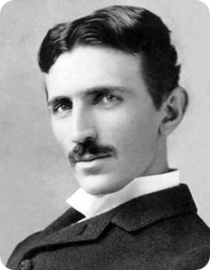 Nikola Tesla a los 37 años.