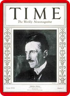 Nikola Tesla en la revista Time en 1931