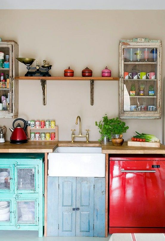Cocinas vintage de 34 ideas para decorar tu cocina al for Decoracion piso estilo retro