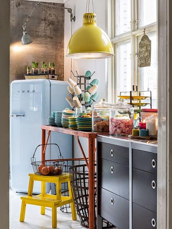 Cocinas vintage de 34 ideas para decorar tu cocina al for Accesorios de cocina vintage