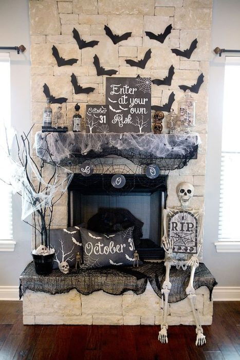 decoracion-casa-para-halloween-chimenea