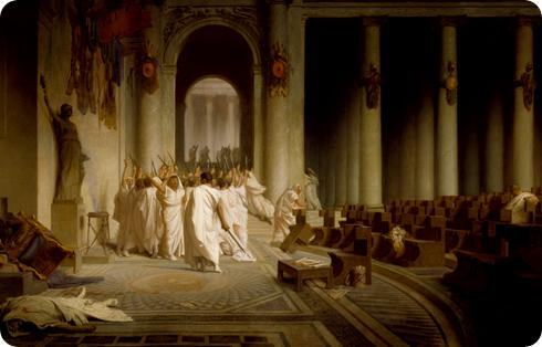 Asesinato de César por Jean-Léon Gérôme