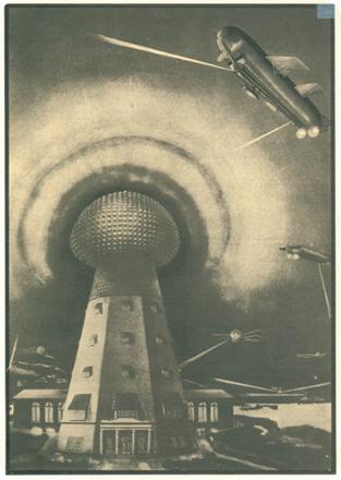 Modelo de cómo habría sido la Torre Tesla terminada