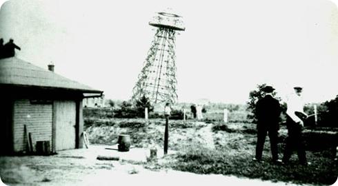 Torre Tesla en 1917