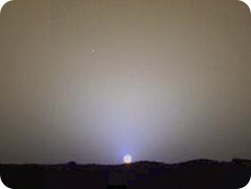 Atardecer en Marte, por la Mars Pathfinder.
